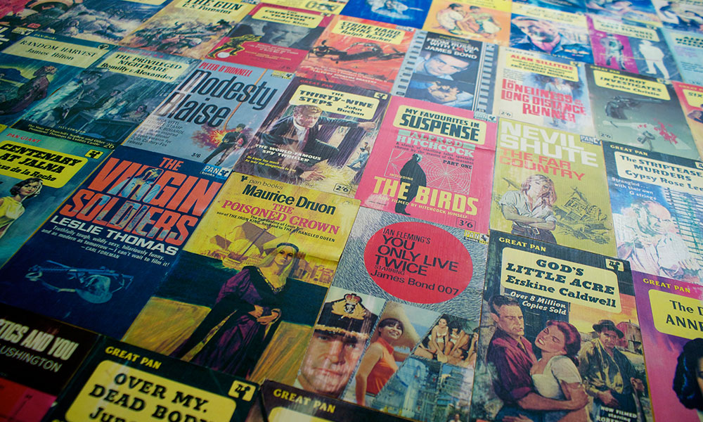 Astley Book Farm's book covers wallpaper