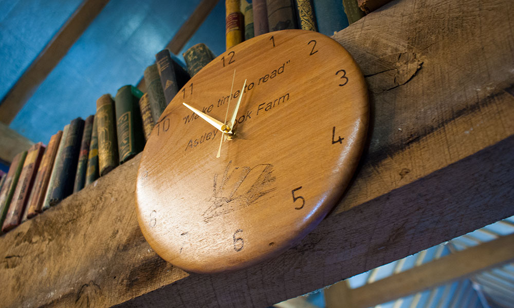 Astley Book Farm's Make Time to Read clock